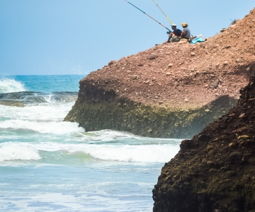 Enjoy Fishing From The Cliffs