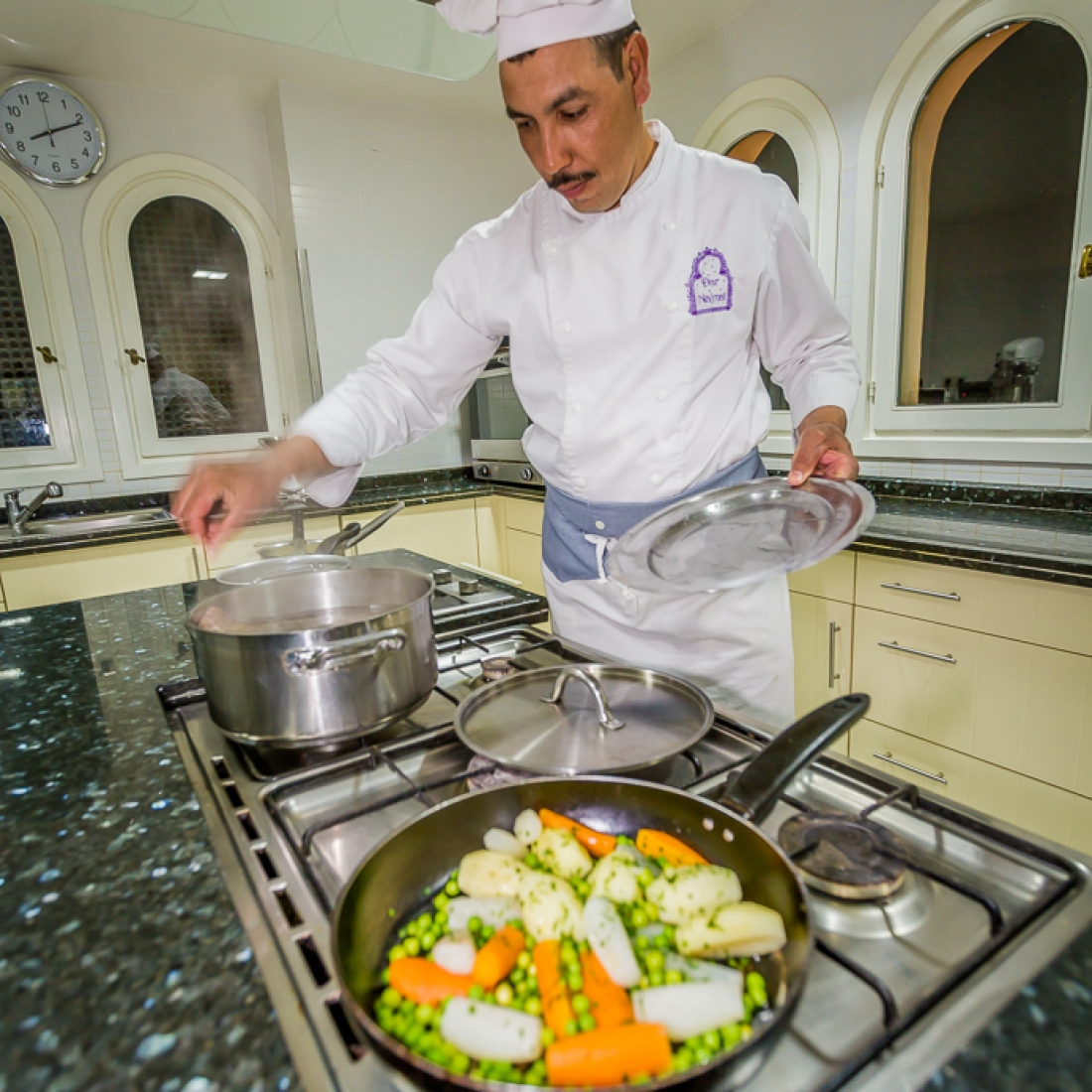 Chef Brahim, will delight you with his whole baked fish in sea salt from Oualidia