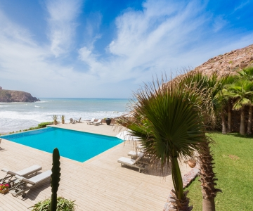 Annexe View of Pool and Beach